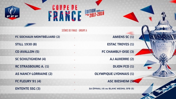 Football : les affiches des 32e de finale de la Coupe de France