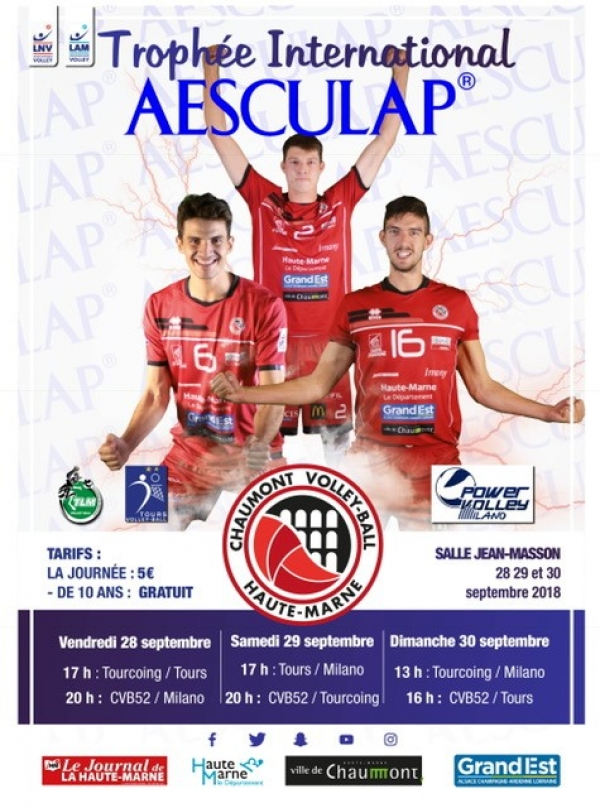 L'affiche du Trophée International Aesculap à Chaumont